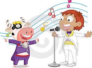 Singing Boy Stock Images - Image: 9815664