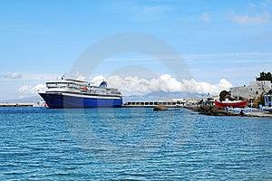 Ship On Aegean Sea Stock Image - Image: 9817301