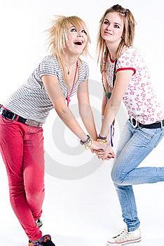 Funky Girls Stock Photo - Image: 9820280