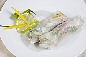 Chinese Japanese Meal To Stuff Meat And Green-stuf Stock Image - Image: 9821821