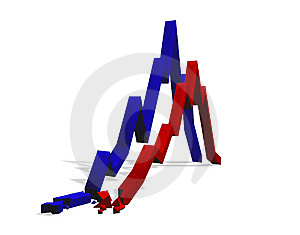 Graphics, Diagrams Crisis. Stock Photo - Image: 9821840