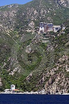 Monastery On Athos Mountain Royalty Free Stock Images - Image: 9823719