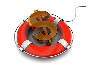 Dollar Rescue Royalty Free Stock Photography - Image: 9824287