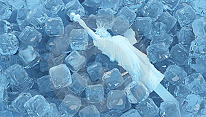 Ice Statue Of Liberty Stock Photography - Image: 9826162