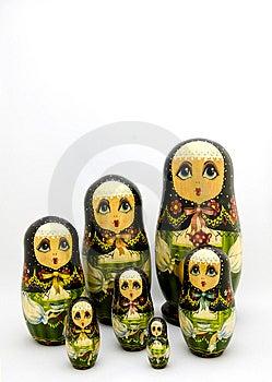 Matryoshka Nestelde Russische Doll Royalty-vrije Stock Fotografie - Afbeelding: 9826917