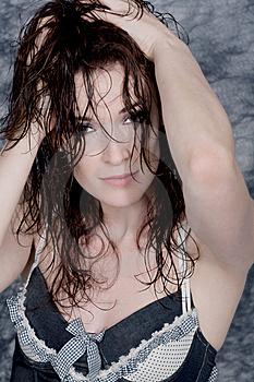 Wet Hair Royalty Free Stock Images - Image: 9830189