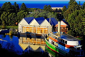 Old Boat House And Ferry Royalty Free Stock Photos - Image: 9830748