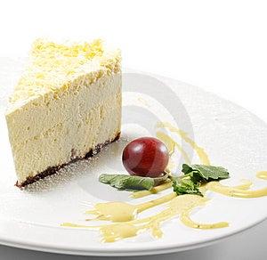 Dessert - Lemon Cheesecake Royalty Free Stock Image - Image: 9832056