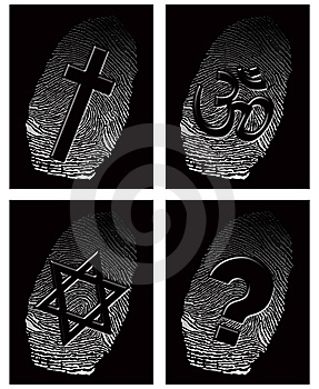 Black Fingerprint And Official Religion Stock Photography - Image: 9832582
