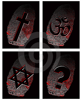 Black Fingerprint And Official Religion Royalty Free Stock Photos - Image: 9832668