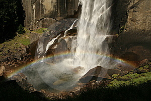 Rainbow Over Vernal Fall Stock Image - Image: 9833361