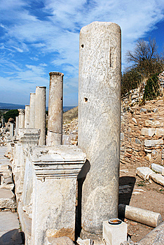 Ephesus Columns Royalty Free Stock Photography - Image: 9834287