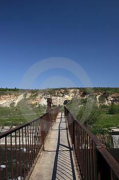 Metal Footbridge Royalty Free Stock Photography - Image: 9834807