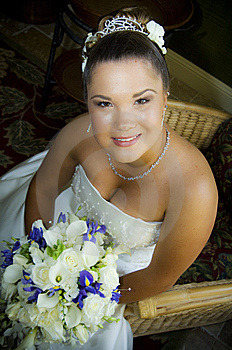 Face Of A Happy Young Bride Stock Image - Image: 9834981