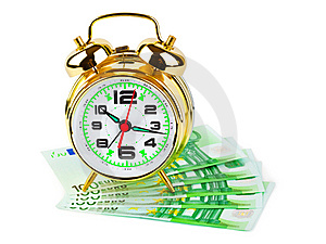 Alarm Clock And Money Stock Photo - Image: 9838330