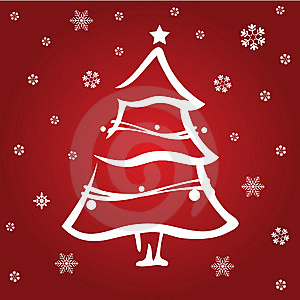 Red Christmas Tree Stock Images - Image: 9840334