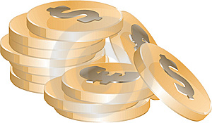Golden Coins Royalty Free Stock Photo - Image: 9841205