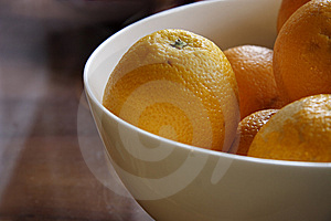 Fresh Oranges In A China Bowl Stock Image - Image: 9842081