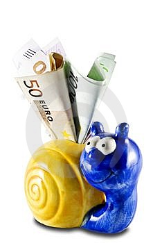 Money-box With A Money Royalty Free Stock Photography - Image: 9842777