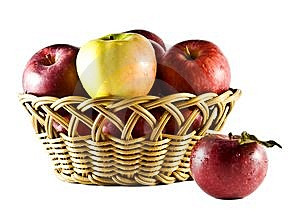 Basket Of Apples 1 Stock Photos - Image: 9842793
