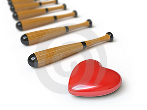 Heart Collection - Push Here Stock Photography - Image: 9842902