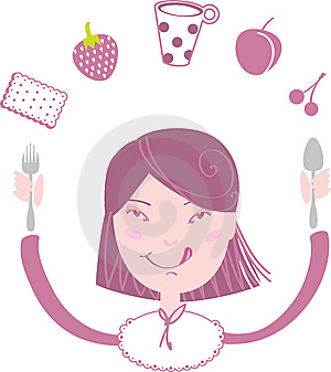 Happy Girl Eat Her Lunch Royalty Free Stock Photos - Image: 9842928