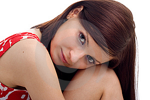 Portrait Of Young Beautiful Woman Stock Photo - Image: 9843590