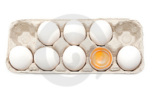 Egg, Yolk In Shell Royalty Free Stock Photos - Image: 9845318