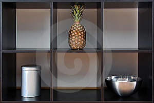 Ananas,can And Bowl In A Box Stock Photos - Image: 9846703