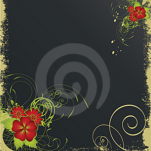 Nice flower grunge background