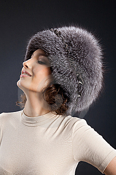 Woman In A Fur Hat Royalty Free Stock Image - Image: 9849736