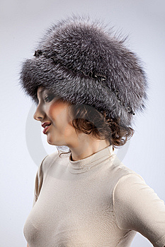 Woman In A Fur Hat Royalty Free Stock Photo - Image: 9849825