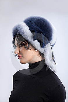 Woman In A Fur Hat Royalty Free Stock Photos - Image: 9850038