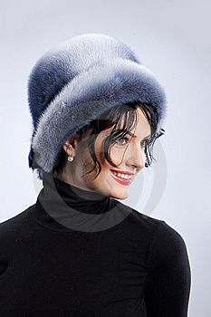 Woman In A Fur Hat Stock Photography - Image: 9850052