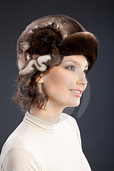 Woman In A Fur Hat Royalty Free Stock Photography - Image: 9850067