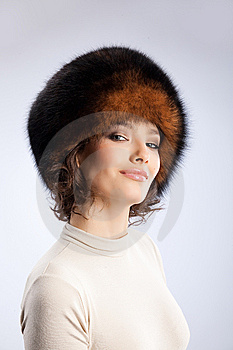 Woman In A Fur Hat Stock Photography - Image: 9850202