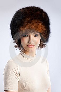 Woman In A Fur Hat Royalty Free Stock Photo - Image: 9850245