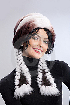 Woman In A Fur Hat Royalty Free Stock Image - Image: 9850266