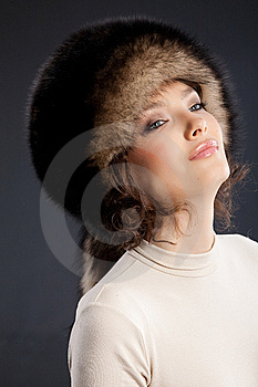 Woman In A Fur Hat Royalty Free Stock Images - Image: 9851229