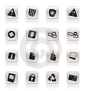 Simple Web Site And Computer Icons Stock Images - Image: 9851844
