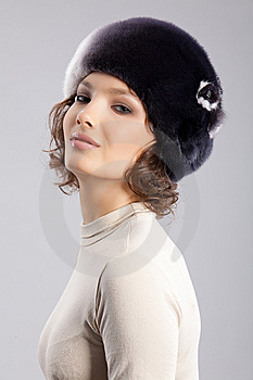 Woman In A Fur Hat Royalty Free Stock Photo - Image: 9852215