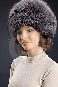 Woman In A Fur Hat Stock Images - Image: 9852274