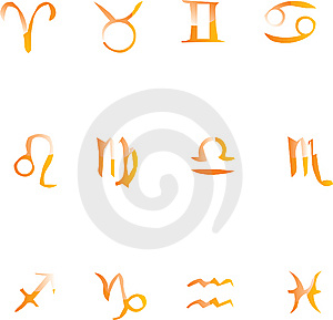 Set Of Vector Icons For Twelve Zodiac Royalty Free Stock Photos - Image: 9853518