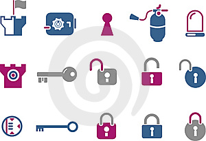 Security Icon Set Stock Photography - Image: 9853772