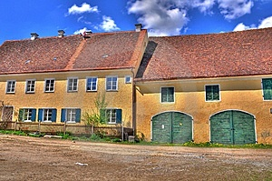 Alter Bauernhof HDR Royalty Free Stock Photography - Image: 9853817