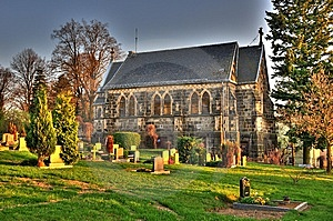 Friedhof Mit Kirche HDR Royalty Free Stock Images - Image: 9855759