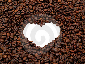 Crowd Of Coffee Beans Heart Shape Stock Photos - Image: 9856113