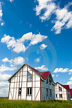 New Country Home For Sale Royalty Free Stock Images - Image: 9856289