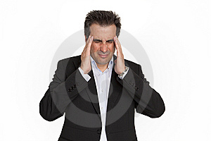 Businessman Having Headache Stock Image - Image: 9858091
