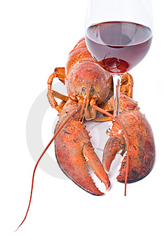 Lobster And Wine Stock Photo - Image: 9859580